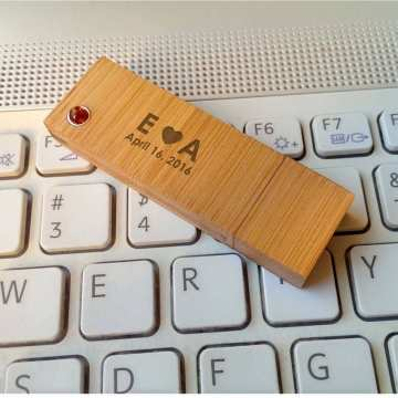 Pendrive z grawerem | Bamboo XL Amber 32GB USB 3.0