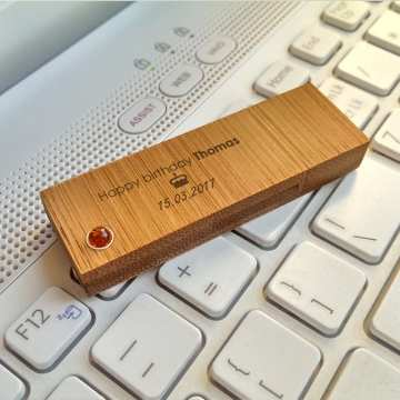 Pendrive z grawerem | Bamboo XL Amber 16GB USB 3.0