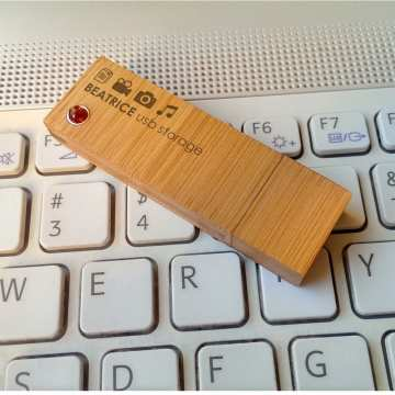 Pendrive z grawerem Bamboo XL Amber 32GB USB 3.0