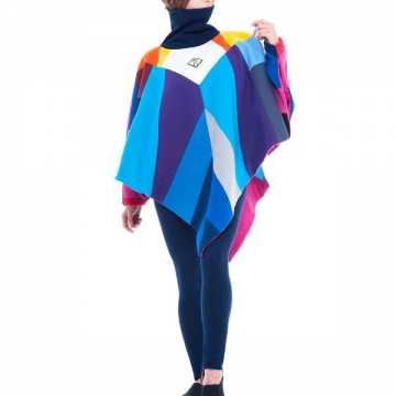 Constellation Poncho Turtleneck