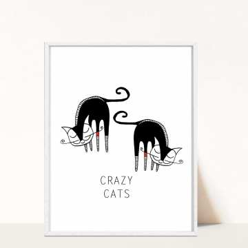 Plakat Crazy Cats 2 - A3