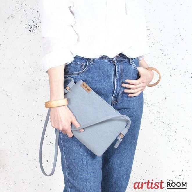 b96306240d23b Nodo bag S niebieska mała kopertówka z paskiem na ramię