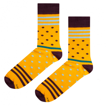 Skarpetki Yellow Stripes N Dots